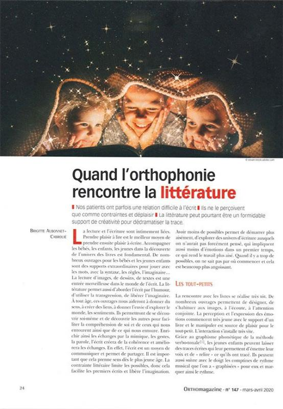 Article litterature ortho